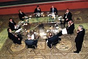 G8 summit 1999: dinner on the Dionysos Mosaic